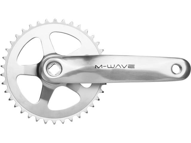 M-Wave Crankset 1 vel 38 dientes aluminio/acero, silver